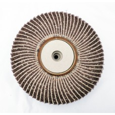 "Satin Abrasive Combi  Wheel 120 Grit/Medium A  8""x2"" Taper bore (200mm x 50mm)"