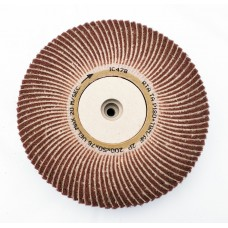 "Satin Abrasive Combi  Wheel 180 Grit/Fine A  8""x2"" Taper bore (200mm x 50mm)"