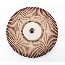 "Satin Abrasive Combi  Wheel 240 Grit/Very Fine A  8""x2"" Taper bore (200mm x 50mm)"