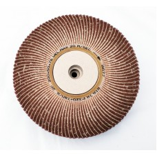 "Satin Abrasive Combi  Wheel 320 Grit/Very Fine A  8""x2"" Taper bore (200mm x 50mm)"