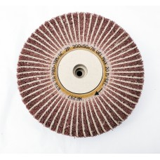 "Satin Abrasive Combi  Wheel 80 Grit/Coarse A  8""x2"" Taper bore (200mm x 50mm)"