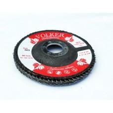 Volker 115mm x 22mm 40 Grit Flap Disc Zirconia Blue