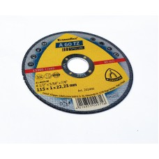 A60 TZ Special 115mm x 1mm x 22,23mm Cutting Disc  Klingspor