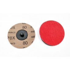 Roloc Disc 75mm Red Ceramic 80 Grit