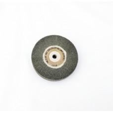 """Satin Wheel Grey Silicone Super Fine Grade 4""""x1"""" (100mm x 25mm)"""