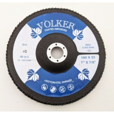 Volker 180mm x 22mm Flap Disc Zirconia Blue