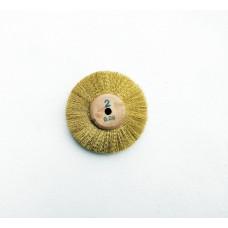 Vertex Brass wire wheel 80mm x 2 row 0.08 wire