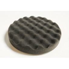 Foam Pad Black WAFFLE 150mm x 25mm Velcro Finishing pad 44740
