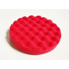 Foam Pad Red WAFFLE 150mm x 25mm Velcro Polishing Pad 44560