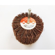 Satin Abrasive Medium A/80 Grit Combi Wheel 80mm x 50mm x 6mm shank